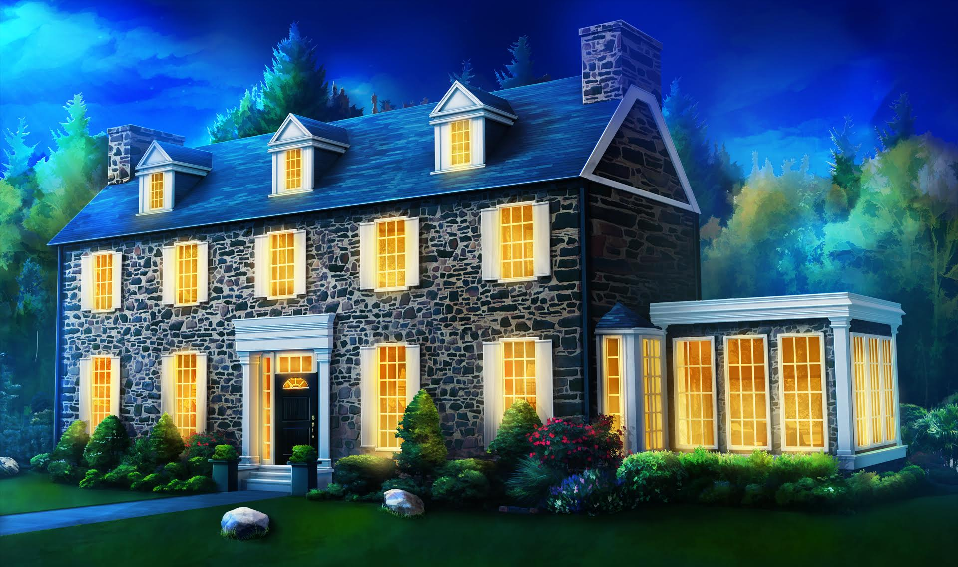 ext philadelphia house night scenary anime pinterest