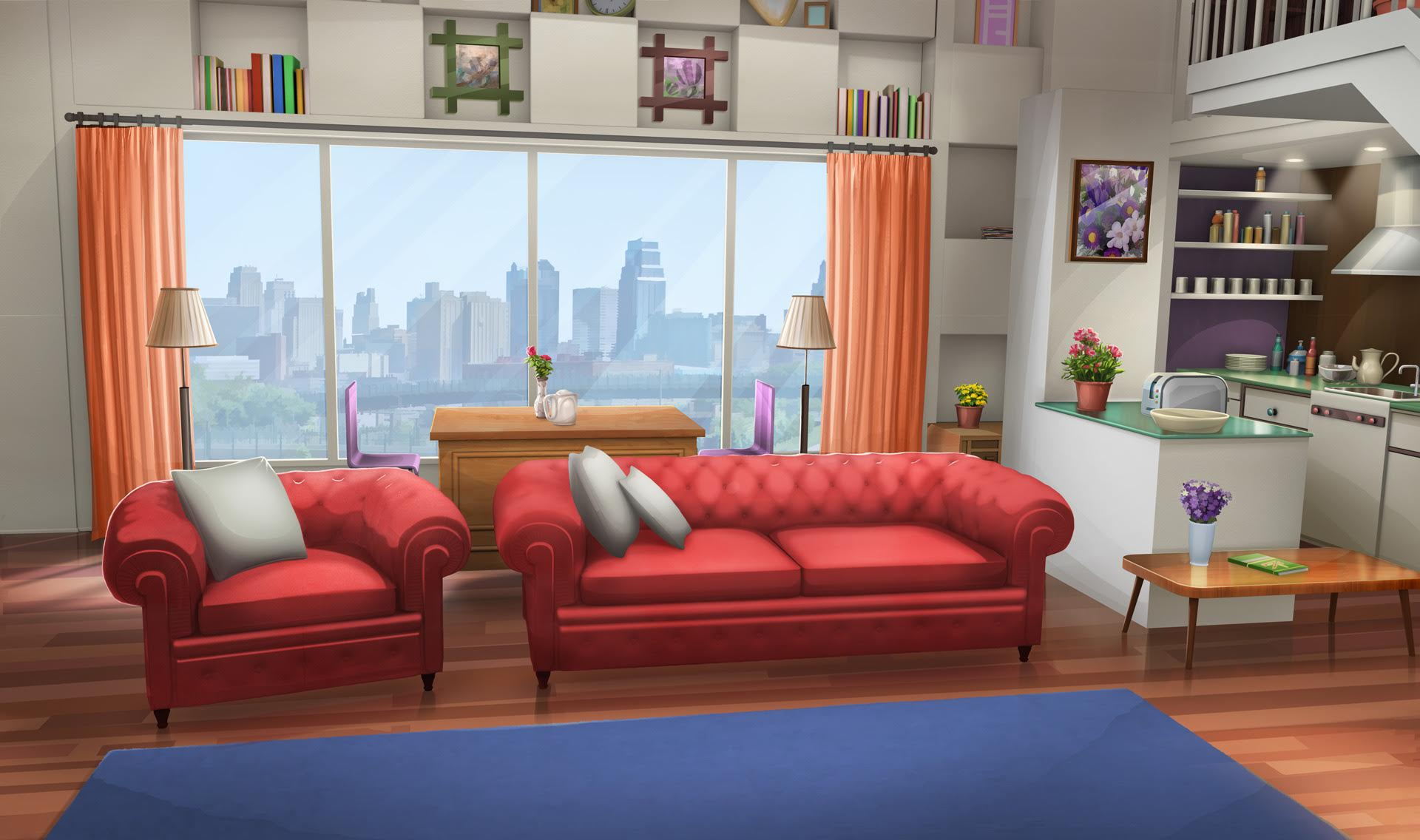 Int Fancy Apartment Living Room Day Episode Backgrounds