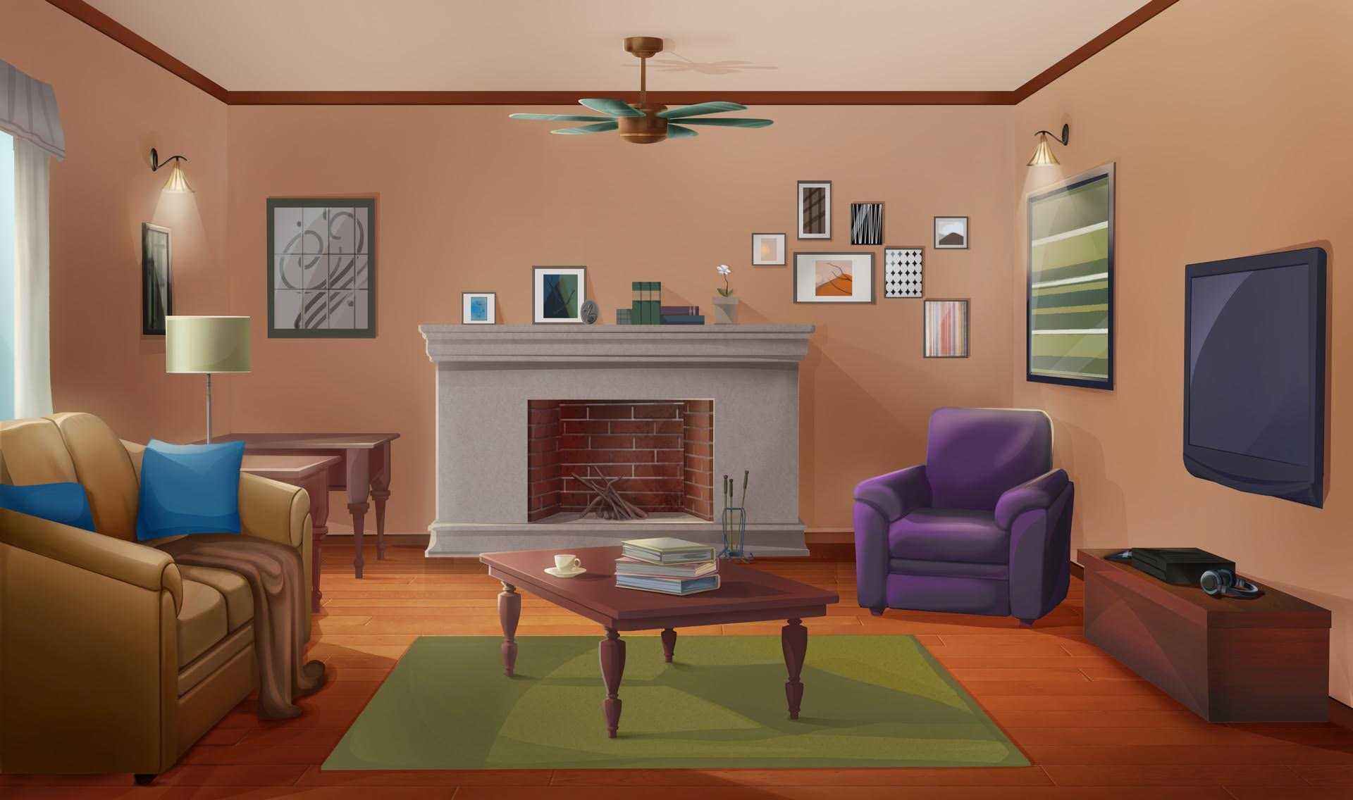 SIMPLE LIVING ROOM In A Night Version Here Is The Link For Day Just Case